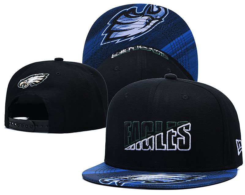 Eagles Team Logo Navy 2020 NFL Summer Sideline Adjustable Hat YD