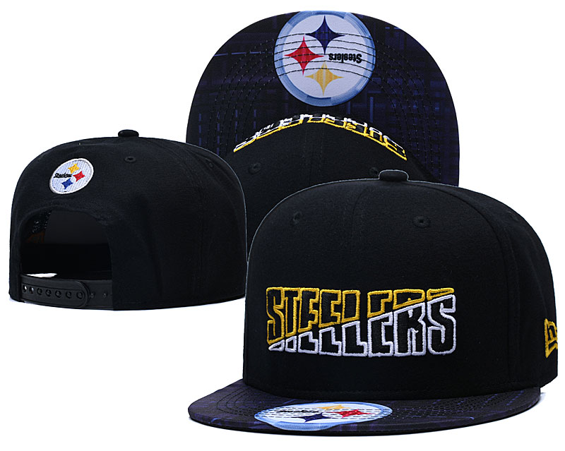 Steelers Team Logo Black 2020 NFL Summer Sideline Adjustable Hat YD