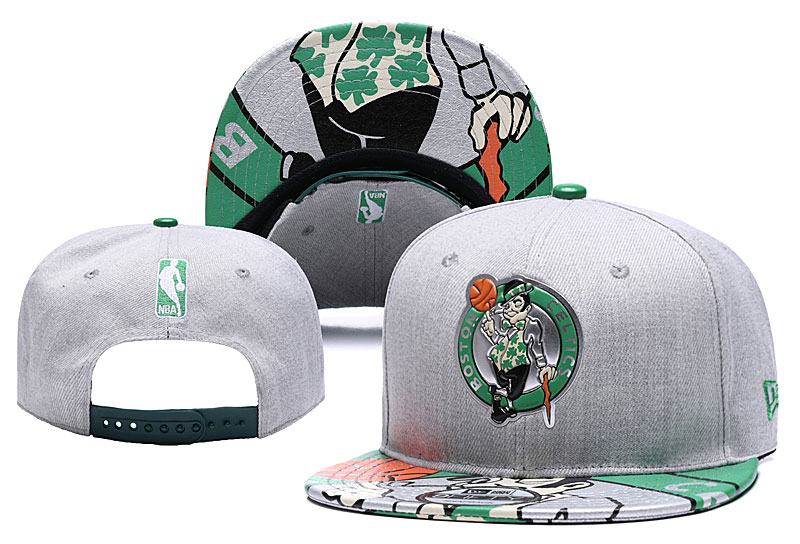 Celtics Team Logo Gray Adjustable Hat YD