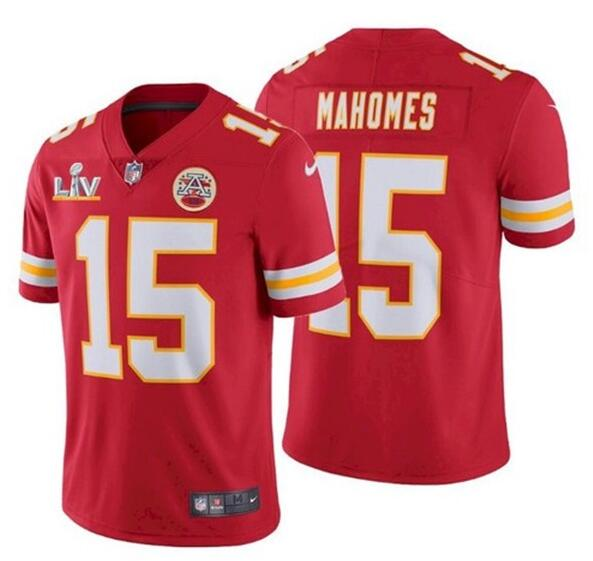 Nike Chiefs 15 Patrick Mahomes Red 2021 Super Bowl LV Vapor Untouchable Limited Jersey