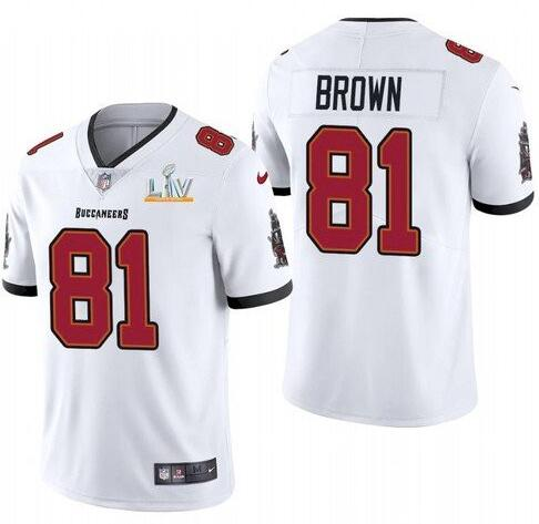 Nike Buccaneers 81 Antonio Brown White 2021 Super Bowl LV Vapor Untouchable Limited Jersey