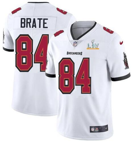 Nike Buccaneers 84 Cameron Brate White 2021 Super Bowl LV Vapor Untouchable Limited Jersey