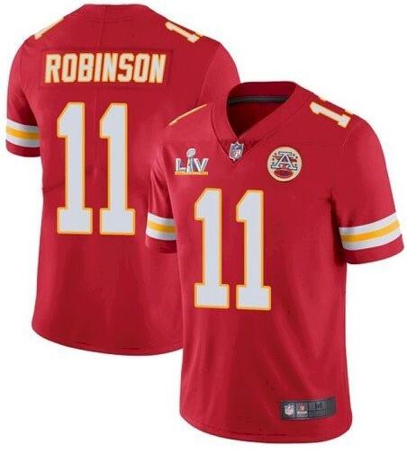Nike Chiefs 11 Demarcus Robinson Red 2021 Super Bowl LV Vapor Untouchable Limited Jersey