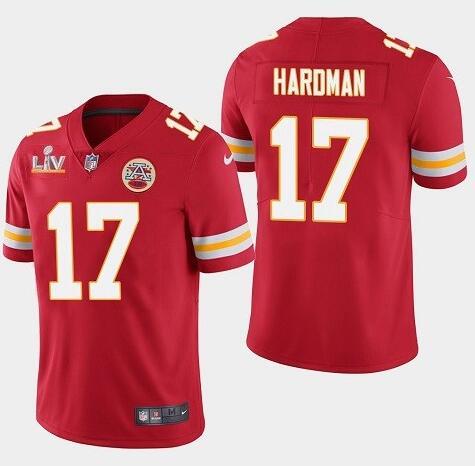 Nike Chiefs 17 Mecole Hardman Red 2021 Super Bowl LV Vapor Untouchable Limited Jersey