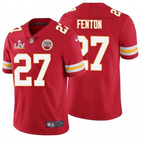 Nike Chiefs 27 Rashad Fenton Red 2021 Super Bowl LV Vapor Untouchable Limited Jersey
