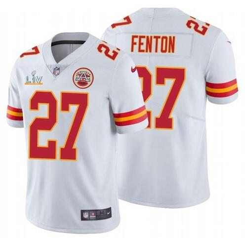 Nike Chiefs 27 Rashad Fenton White 2021 Super Bowl LV Vapor Untouchable Limited Jersey