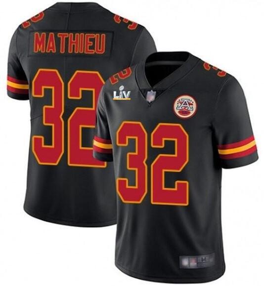 Nike Chiefs 32 Tyrann Mathieu Black 2021 Super Bowl LV Vapor Untouchable Limited Jersey