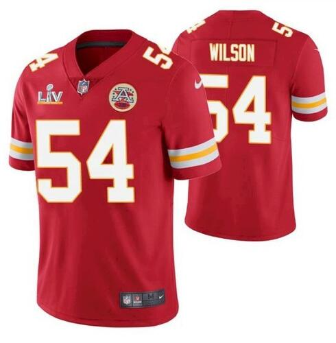 Nike Chiefs 54 Damien Wilson Red 2021 Super Bowl LV Vapor Untouchable Limited Jersey