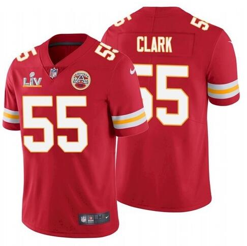 Nike Chiefs 55 Frank Clark Red 2021 Super Bowl LV Vapor Untouchable Limited Jersey