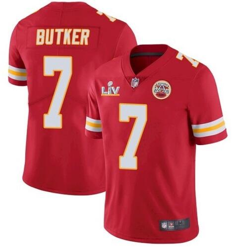 Nike Chiefs 7 Harrison Butker Red 2021 Super Bowl LV Vapor Untouchable Limited Jersey