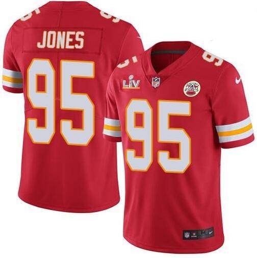 Nike Chiefs 95 Chris Jones Red 2021 Super Bowl LV Vapor Untouchable Limited Jersey