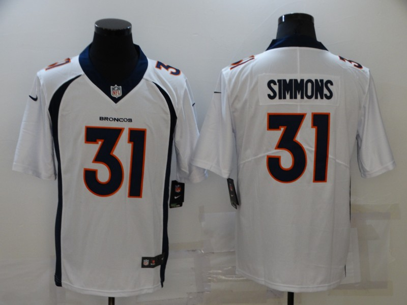 Nike Broncos 31 Justin Simmons White Vapor Untouchable Limited Jersey