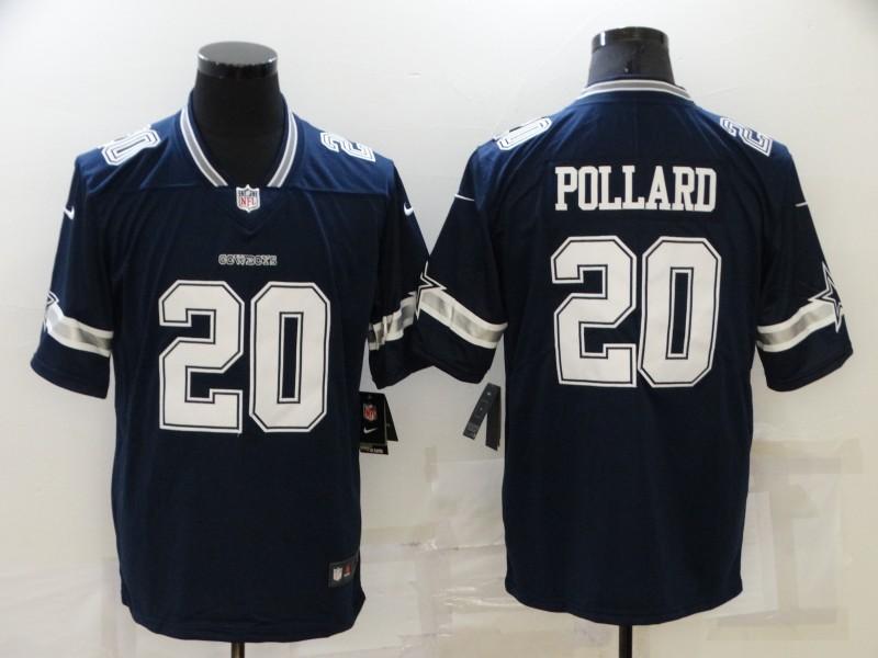 Nike Cowboys 20 Tony Pollard Navy Vapor Untouchable Limited Jersey