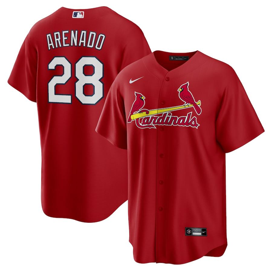 Cardinals 28 Nolan Arenado Red Nike Cool Base Jersey