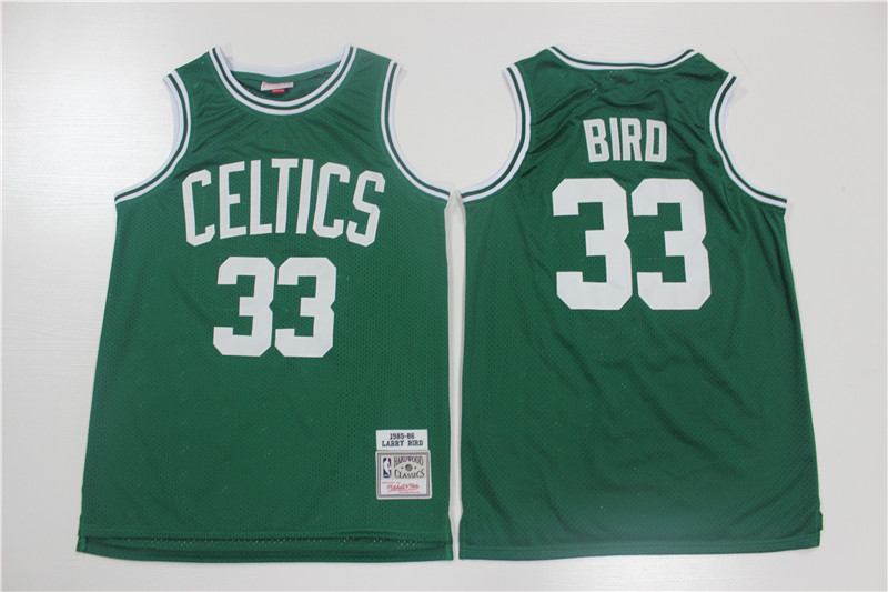 Celtics 33 Larry Bird Green 1985-86 Hardwood Classics Jersey
