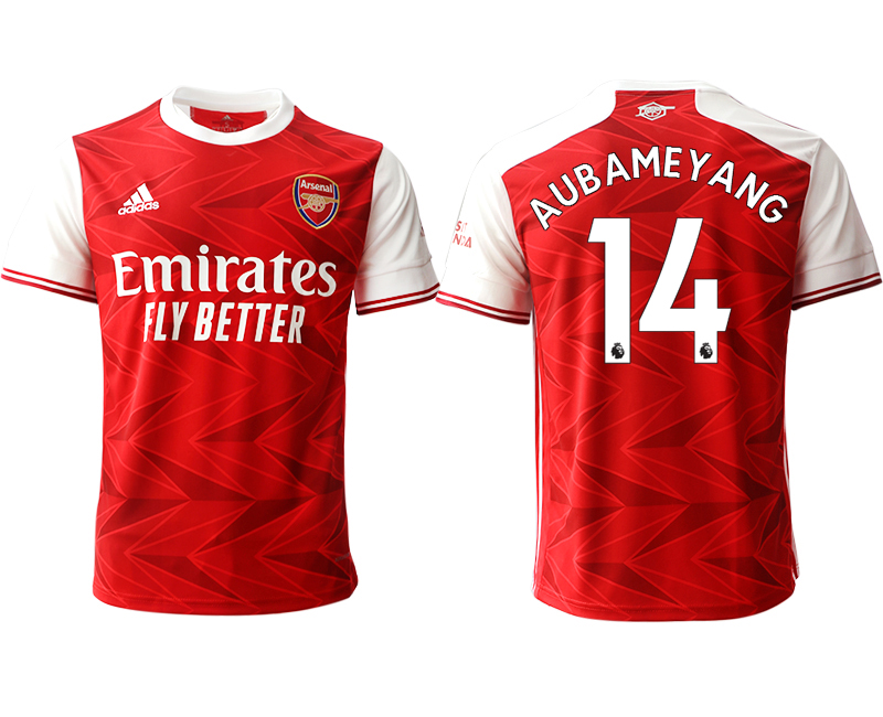 2020-21 Arsenal 14 AUBAMEYANG Home Thailand Soccer Jersey