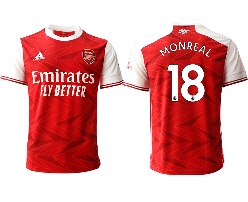 2020-21 Arsenal 18 MONREAL Home Thailand Soccer Jersey