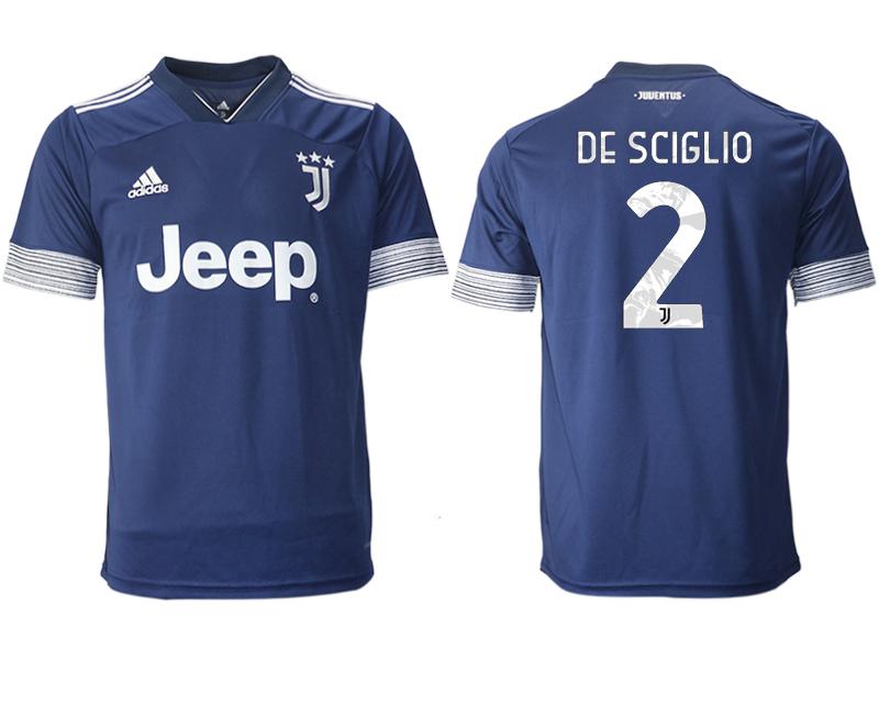 2020-21 Juventus 2 DE SCIGLIO Away Thailand Soccer Jersey