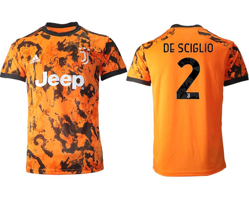 2020-21 Juventus 2 DE SCIGLIO Third Thailand Soccer Jersey
