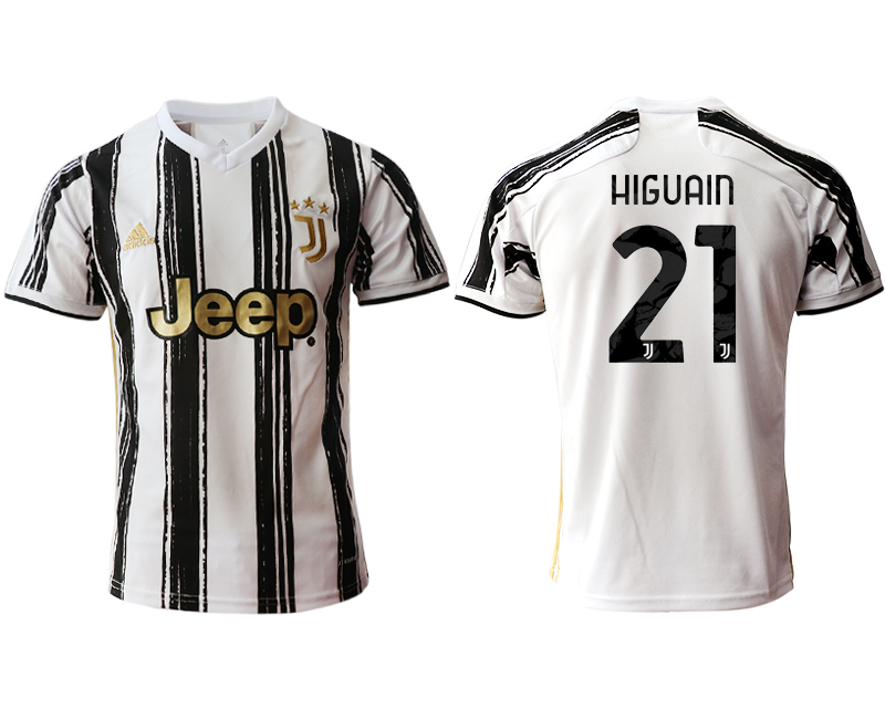 2020-21 Juventus 21 HIGUAIN Home Thailand Soccer Jersey