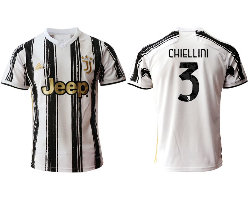 2020-21 Juventus 3 CHIELLINI Home Thailand Soccer Jersey