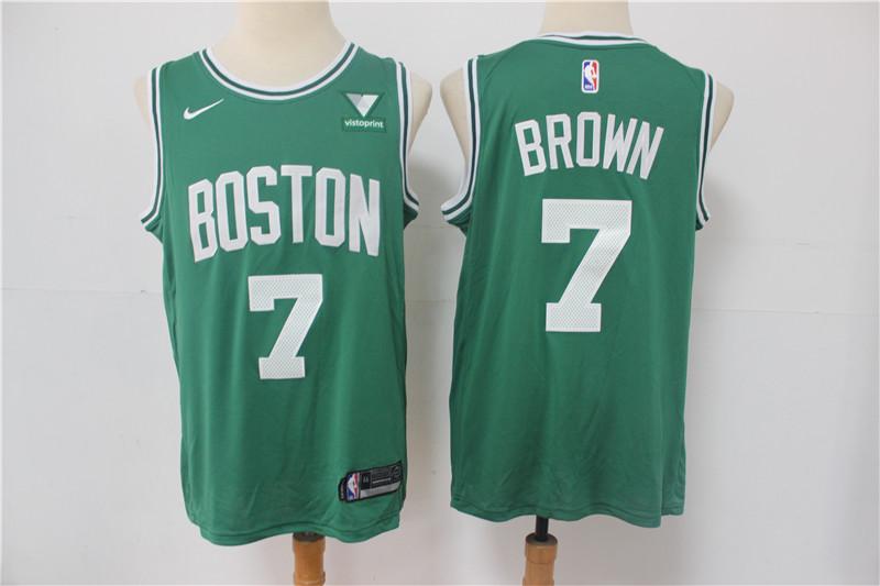 Celtics 7 Jaylen Brown Green Nike Swingman Jersey