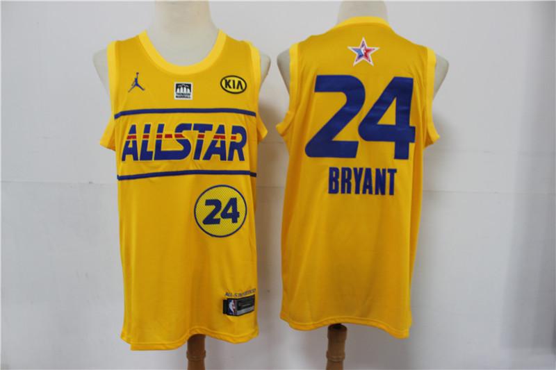 Lakers 24 Kobe Bryant Yellow 2021 NBA All-Star Jordan Brand Swingman Jersey
