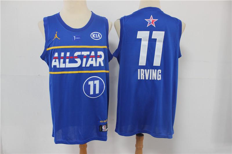 Nets 11 Kyrie Irving Blue 2021 NBA All-Star Jordan Brand Swingman Jersey