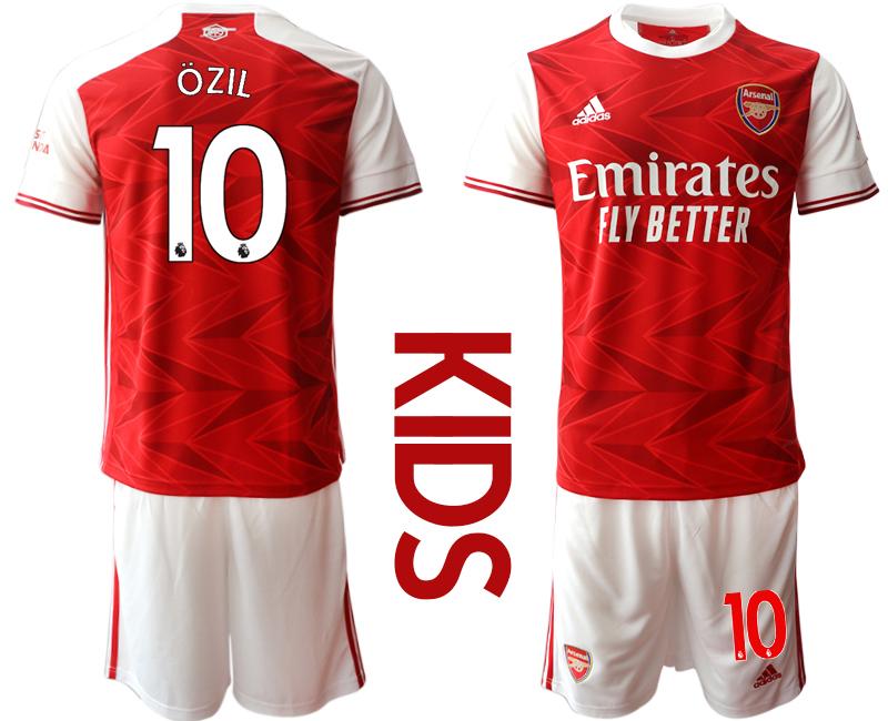 2020-21 Arsenal 10 OZIL Youth Home Soccer Jersey