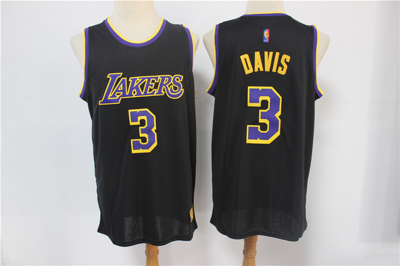 Lakers 3 Anthony Davis Black 2021 Earned Edition Swingman Jersey