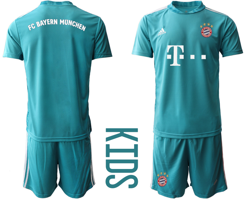 2020-21 Bayern Munich Blue Youth Goalkeeper Soccer Jersey