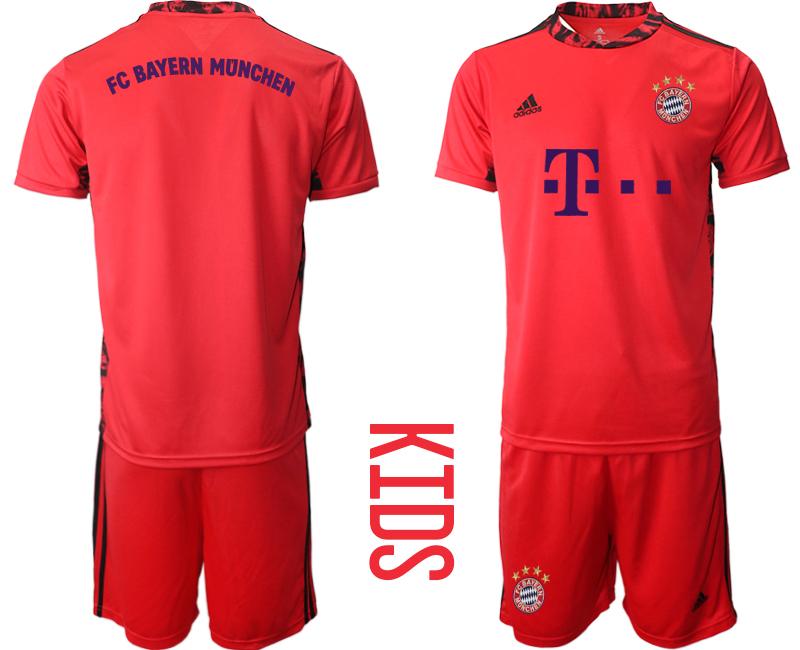 2020-21 Bayern Munich Red Youth Goalkeeper Soccer Jersey