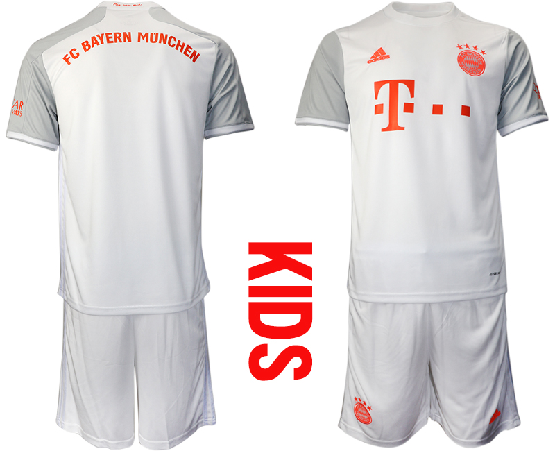2020-21 Bayern Munich Youth Away Soccer Jersey