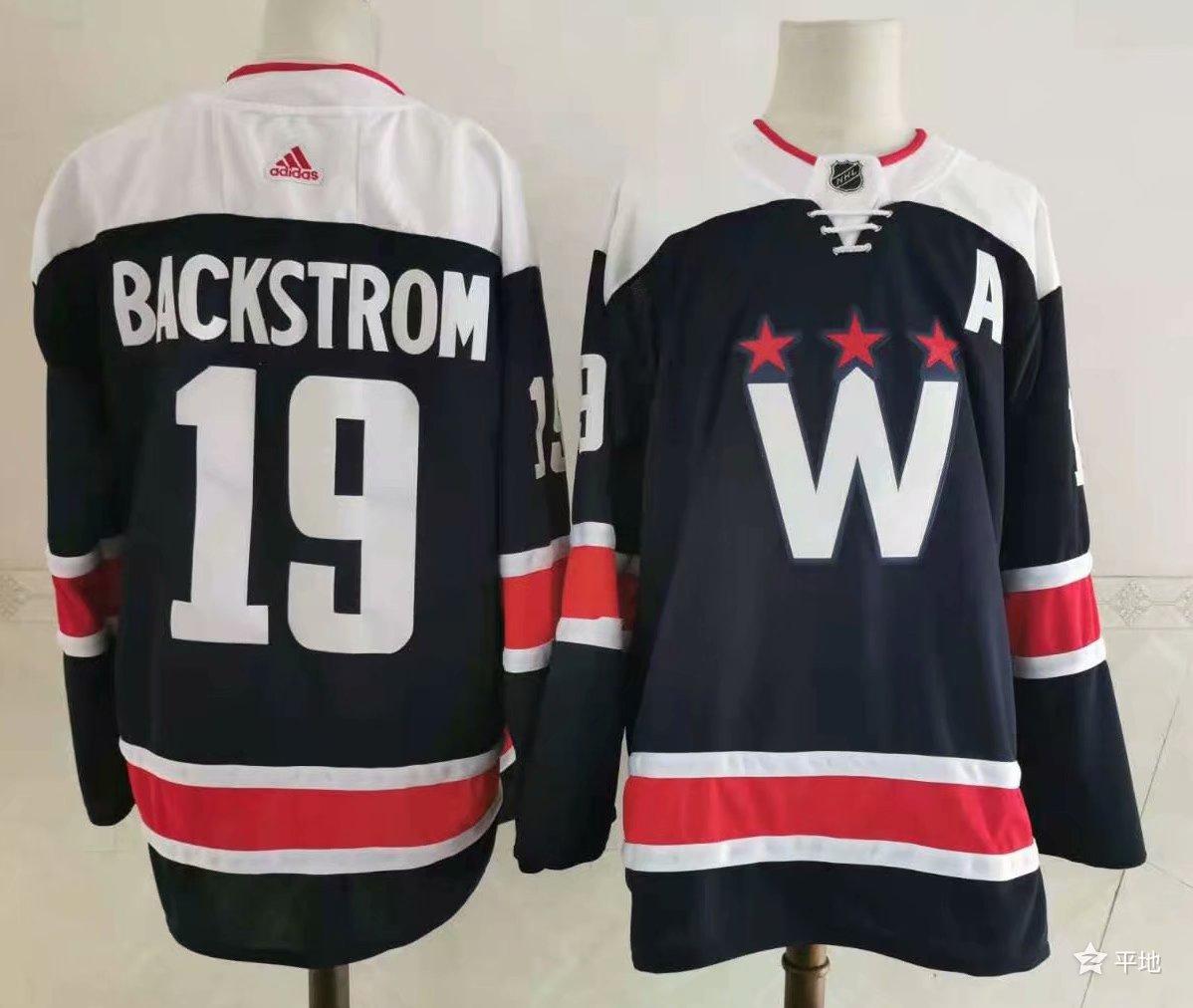 Capitals 19 Nicklas Backstrom Navy 2020-21 Adidas Jersey
