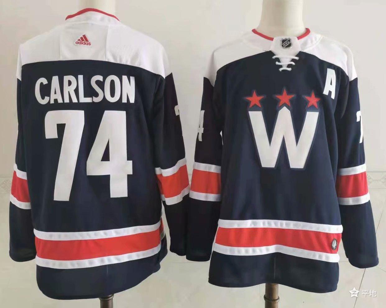 Capitals 74 John Carlson Navy 2020-21 Adidas Jersey