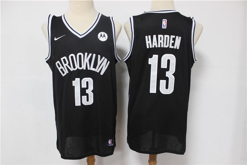 Nets 13 James Harden Black 2021 Nike Swingman Jersey