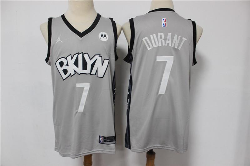 Nets 7 Kevin Durant Gray 2021 Swingman Jersey