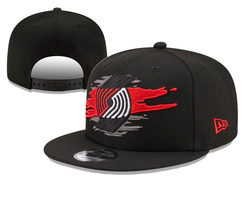 Blazers Team Logo Tear Black New Era Adjustable Hat YD
