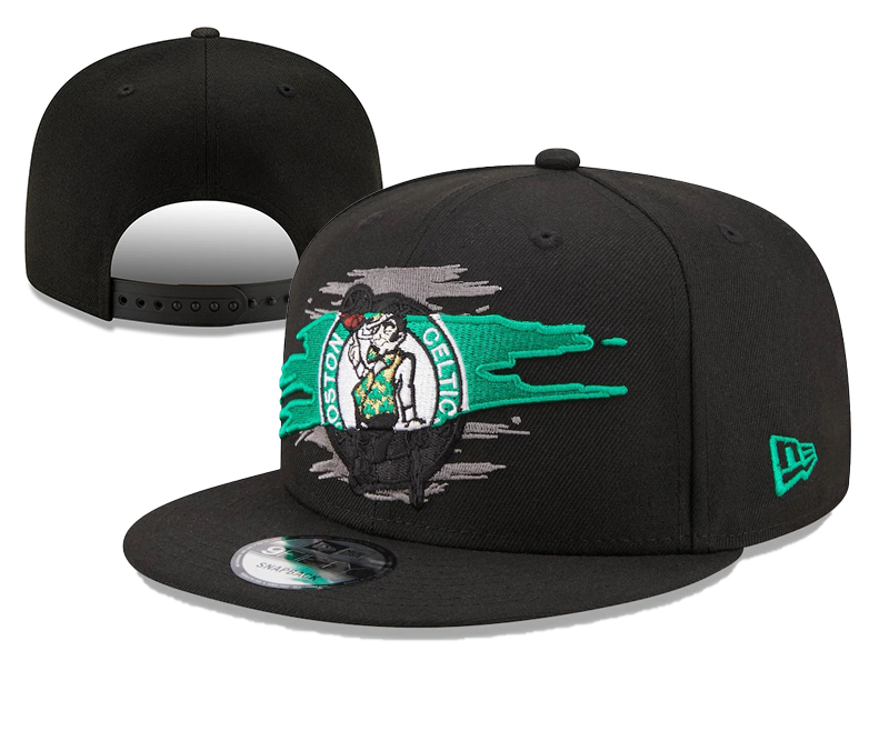 Celtics Team Logo Tear Black New Era Adjustable Hat YD