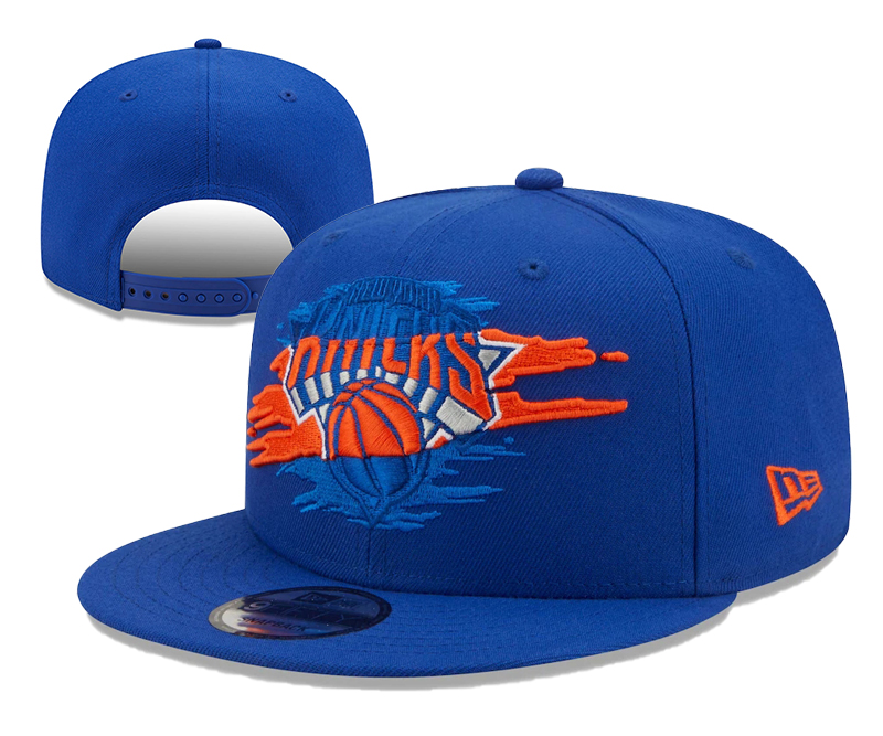 Knicks Team Logo Tear Blue New Era Adjustable Hat YD