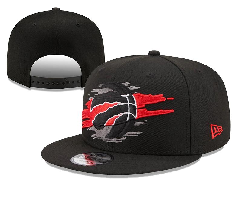 Raptors Team Logo Tear Black New Era Adjustable Hat YD