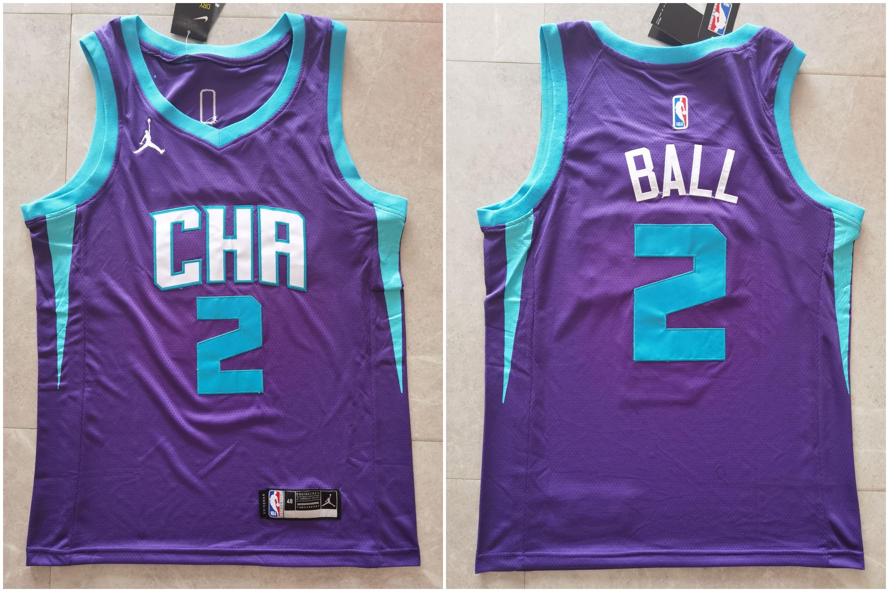 Hornets 2 LaMelo Ball Purple 2021 Swingman Jersey
