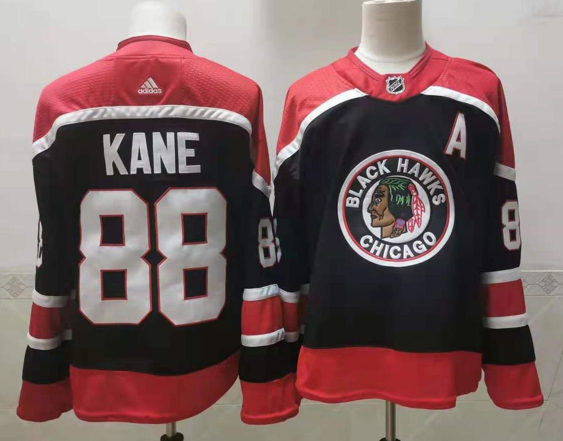 Blackhawks 88 Patrick Kane Navy 2020-21 Reverse Retro Adidas Jersey