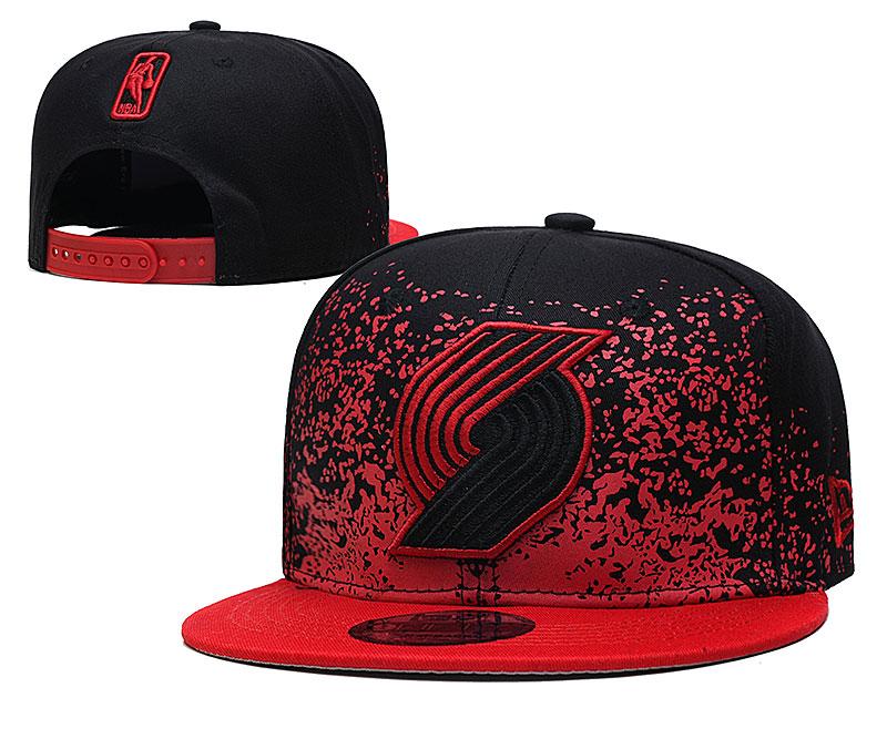 Blazers Team Logo New Era Black Red Fade Up Adjustable Hat YD
