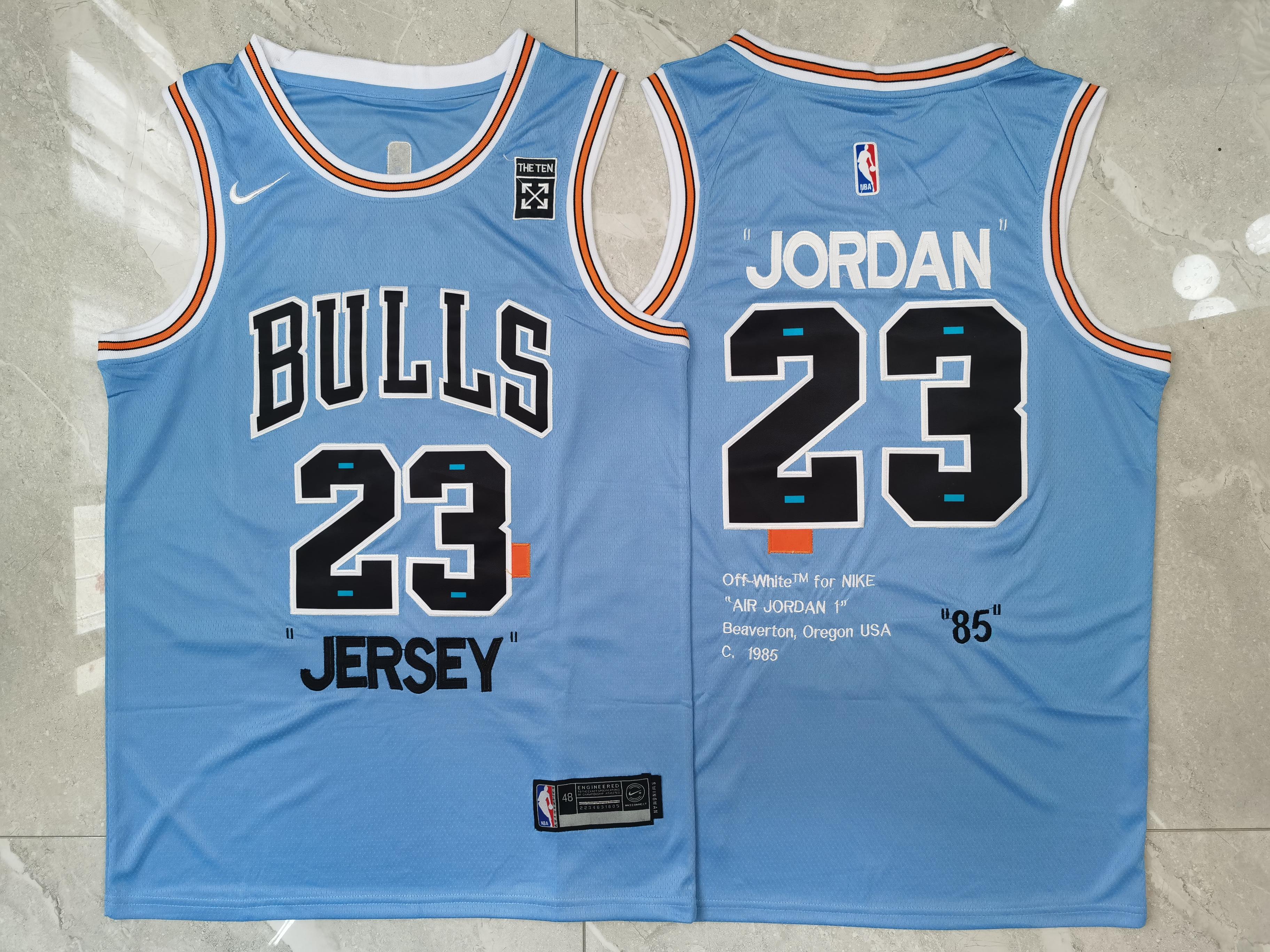 """Bulls 23 Michael Jordan Blue Nike """"85"""" Swingman Jersey"""