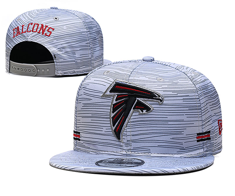 Falcons Team Logo New Era Gray 2020 NFL Sideline Adjustable Hat TX