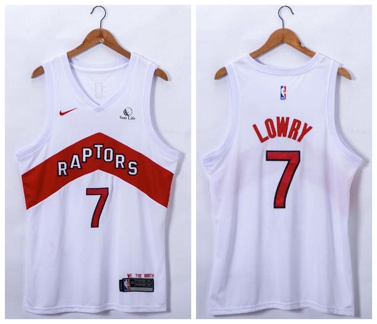 Raptors 7 Kyle Lowry White 2021 Nike Swingman Jersey