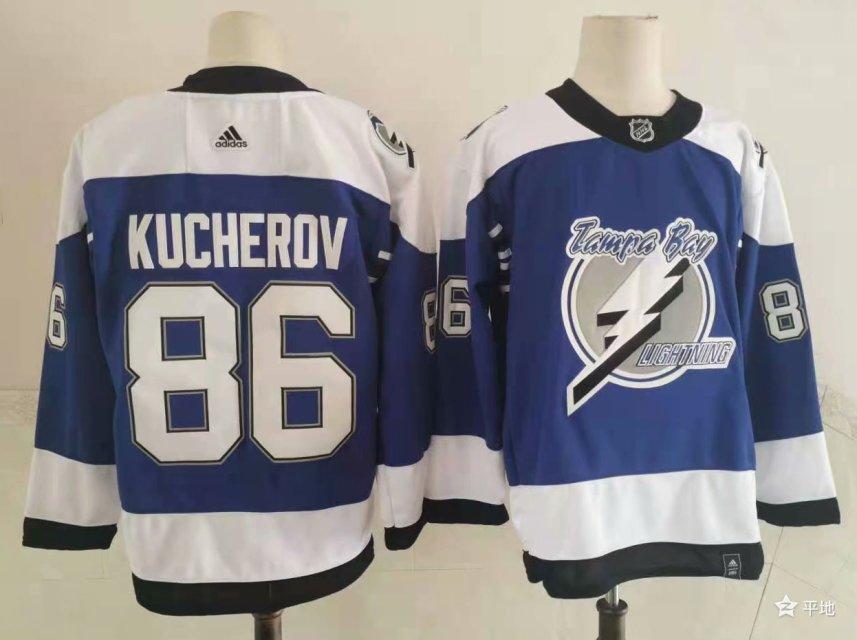 Lightning 86 Nikita Kucherov Blue 2020-21 Reverse Retro Adidas Jersey