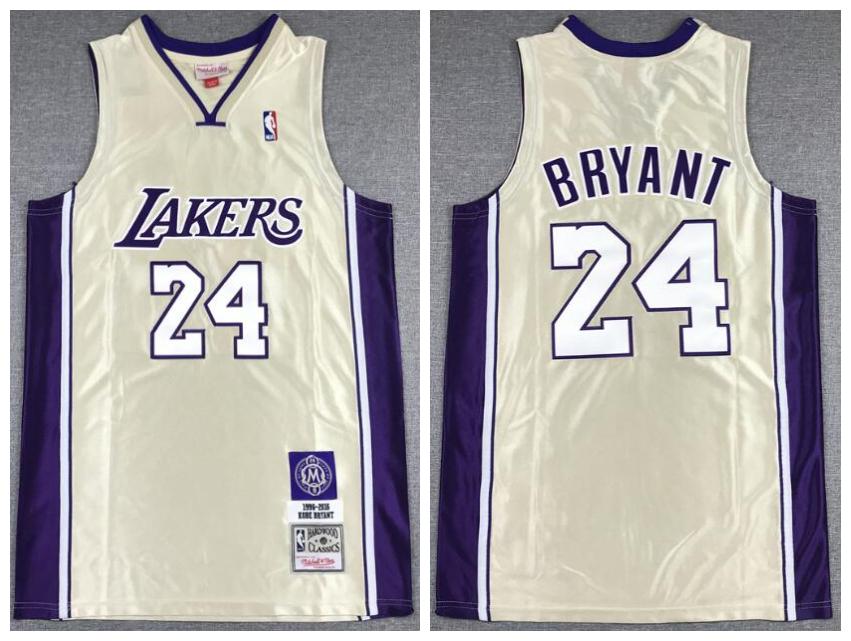 Lakers 24 Kobe Bryant Gold Hall Of Fame 1996-2016 Hardwood Classics Jersey