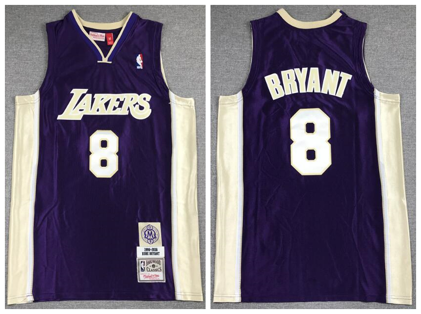 Lakers 24 Kobe Bryant Purple Hall Of Fame 1996-2016 Hardwood Classics Jersey